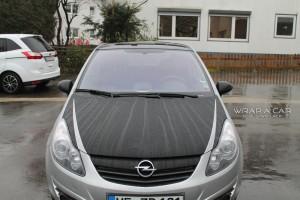 Opel Corsa D Motorhaubenfolierung