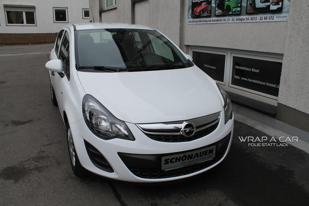 Opel Corsa D Weiss Folierung