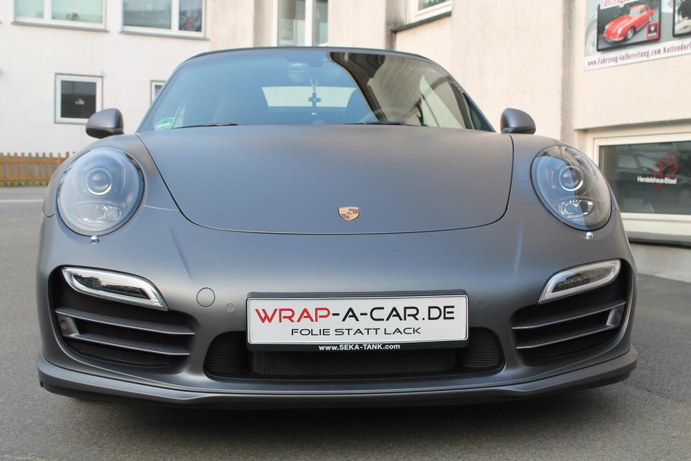 Porsche Turbo Grau Matt Metallic