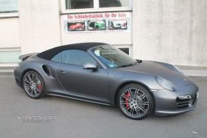 Porsche Turbo 991 Turbo in grau matt metallic Foliert
