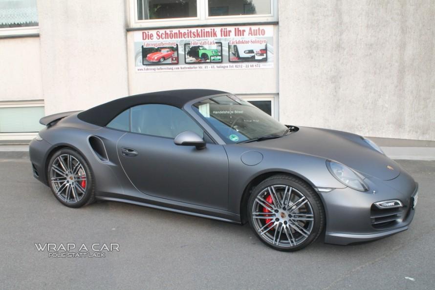 Porsche-turbo-991-Folie-graumatt-front