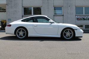 Porsche Carrera 996 / Foliert weiß glänzend