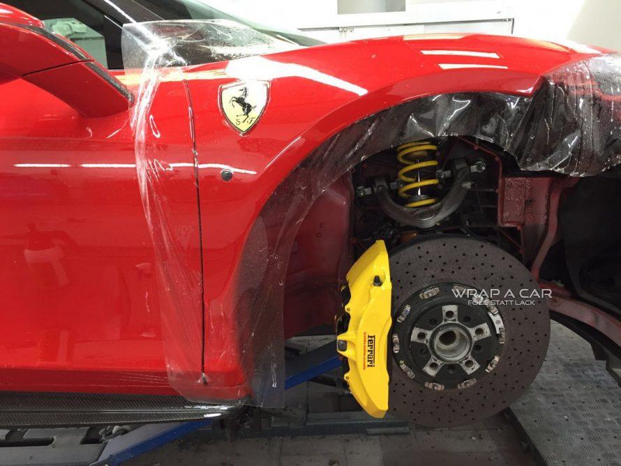 Lackschutz Folierung eines Ferrari