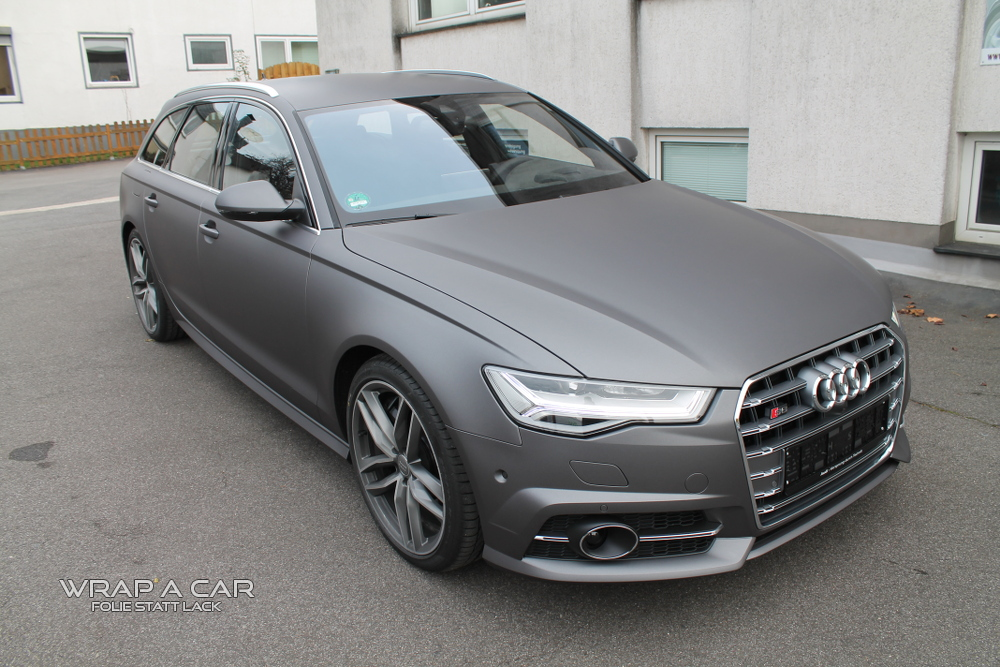 Audi S6 C7 Avant Vollfolierung In Grau Matt