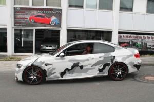 BMW Teilfolierung grau schwarz weiß