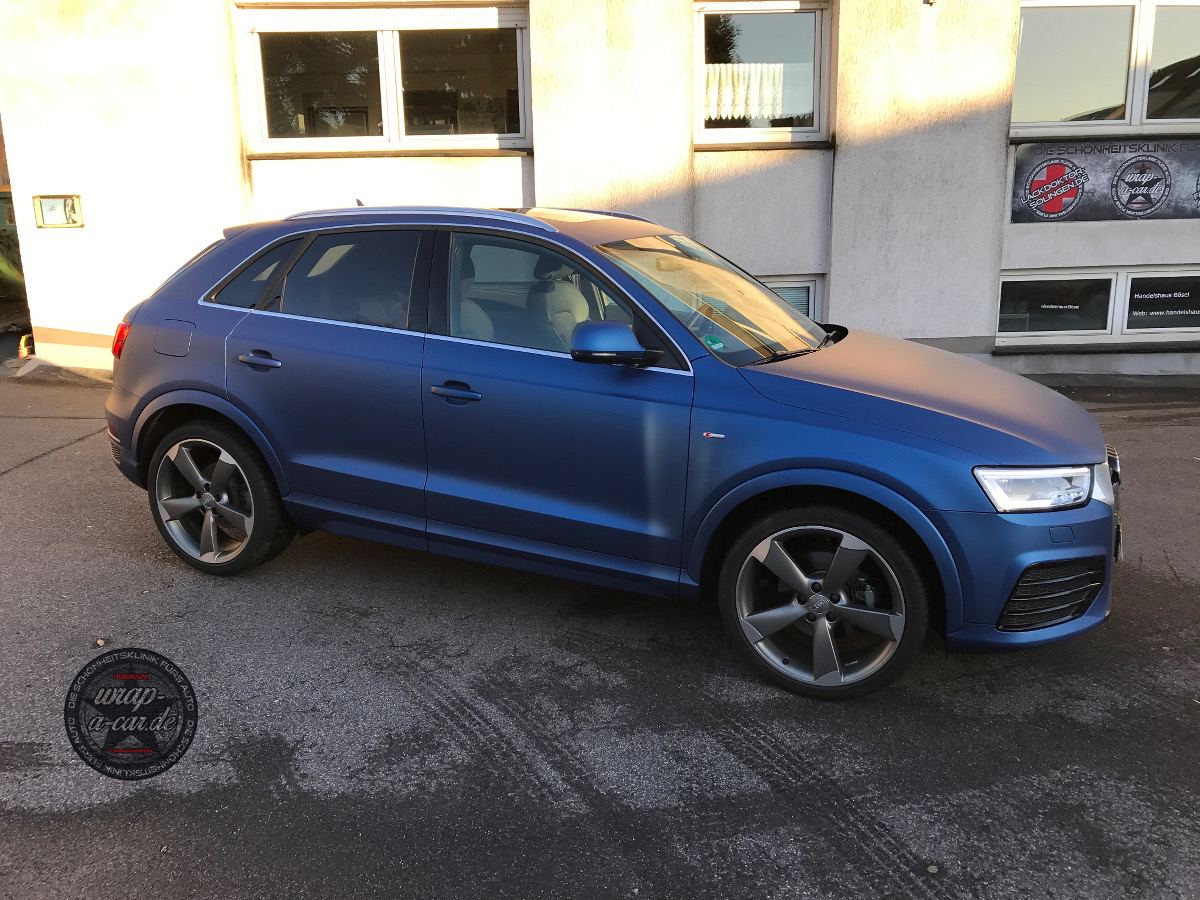 Audi Q 3 Folierung In Blau Matt Wrap A Car