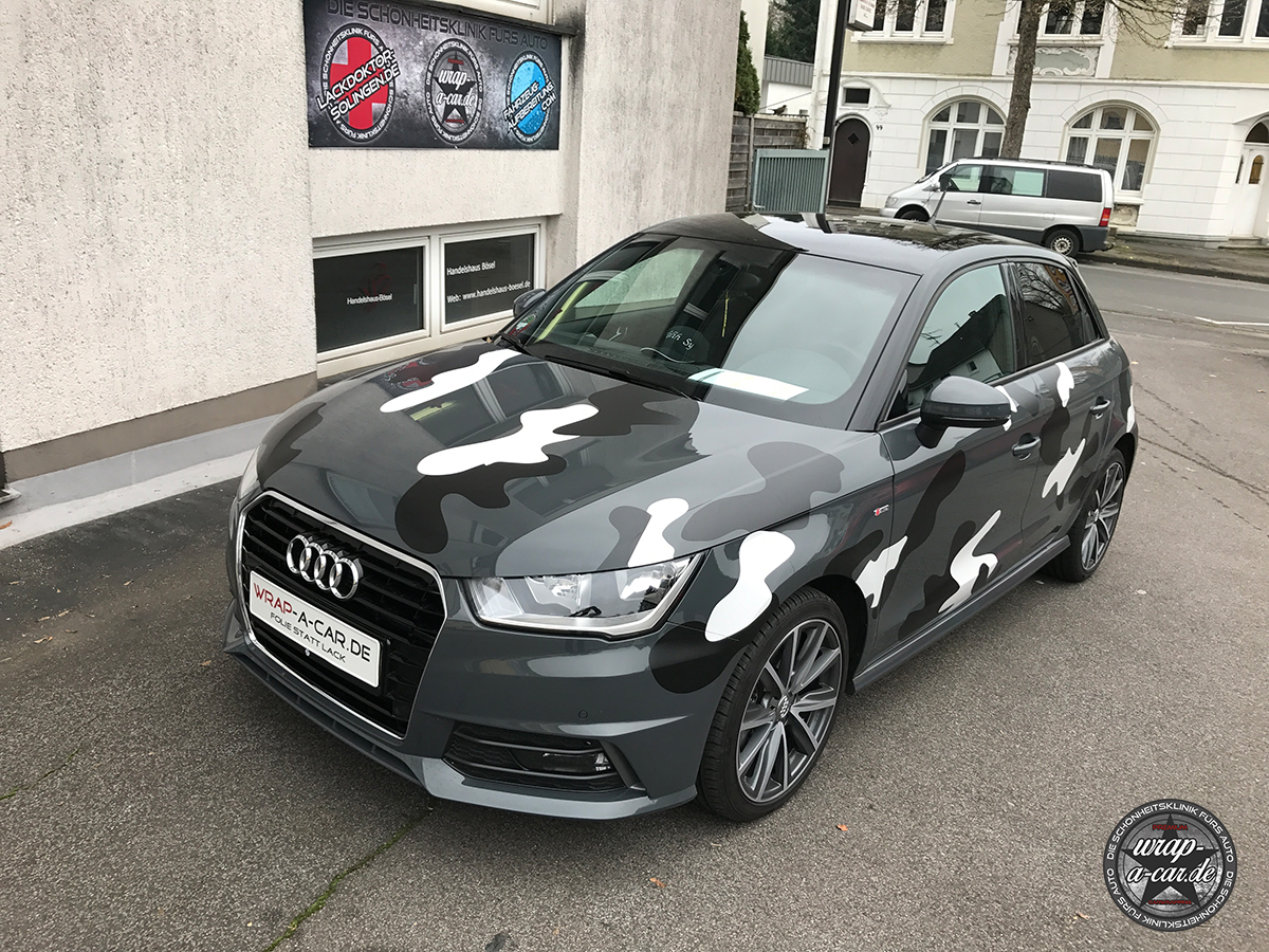 Audi a 1 camouflage teilfolierung by wrap a car for Car picture ideas