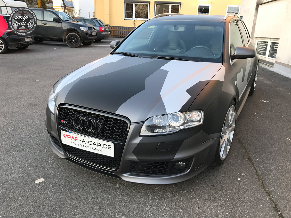 Audi Rs4 Camouflage Folierung By Wrap A Car