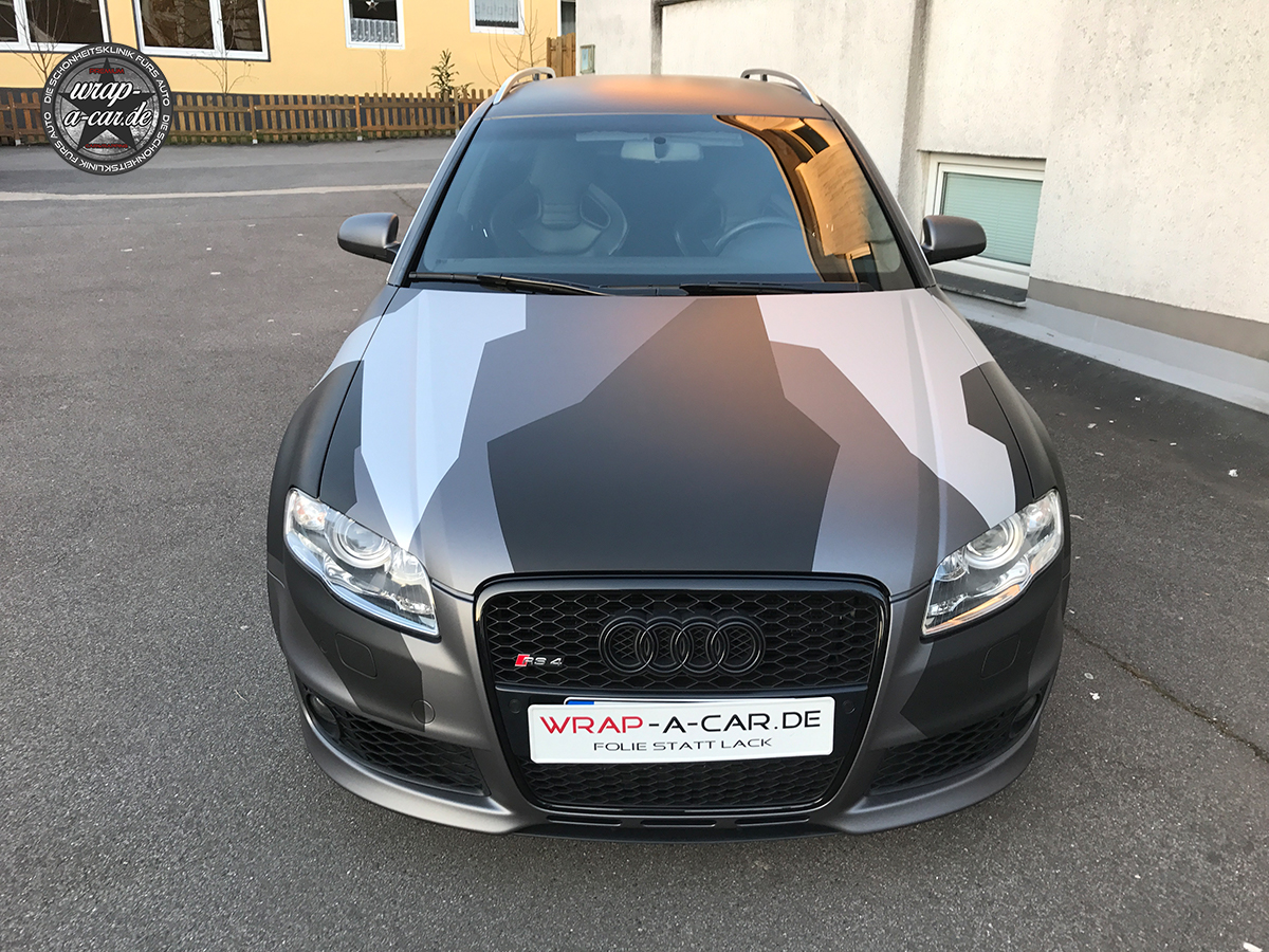 audi rs4 camouflage folierung by wrap a car. Black Bedroom Furniture Sets. Home Design Ideas