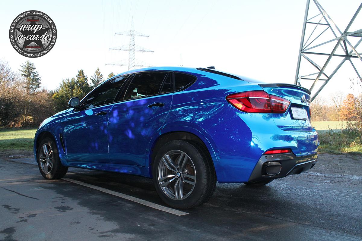 Bmw X6 Folierung In Chrom Blau By Wrap A Car De