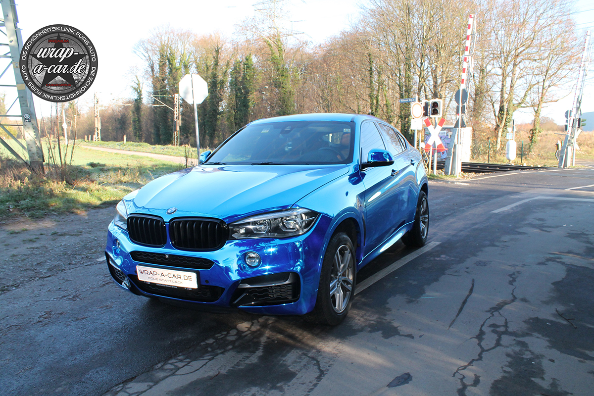 Bmw X6 Folierung In Chrom Blau By Wrap A Car De
