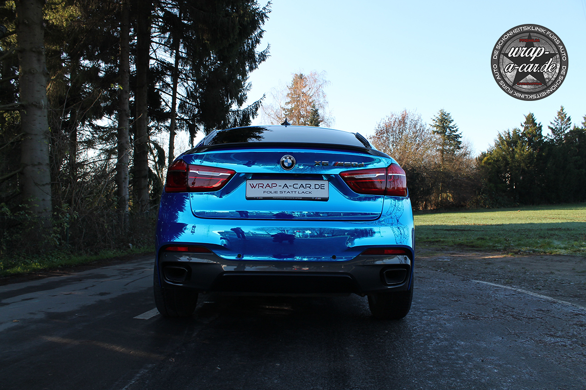 Bmw X6 Wrap Bmw X6 Folierung Chrom Blau Wrap A Car Nrw