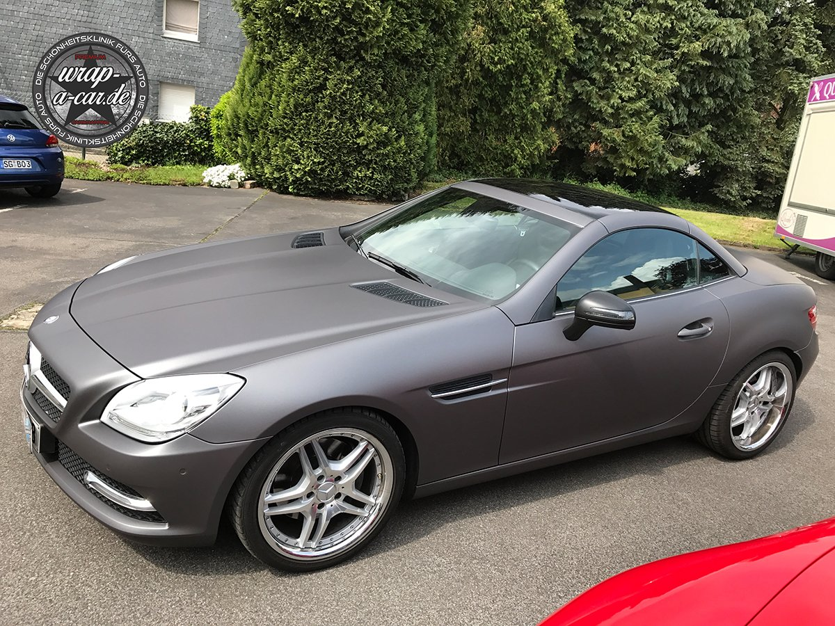 Mercedes Slk Folierung In Matt By Wrap A Car